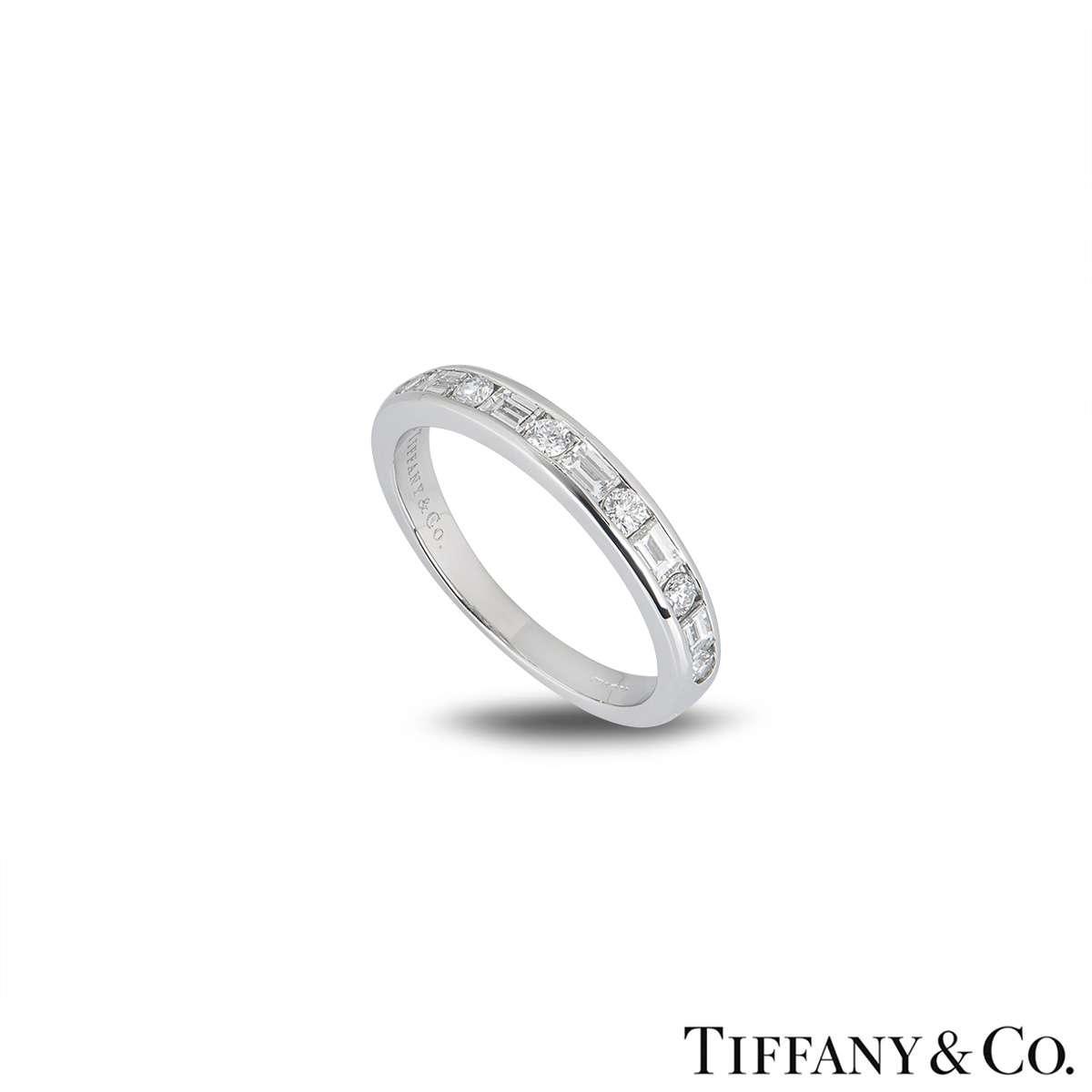 Tiffany & Co. Platinum Diamond Channel Set Band Ring